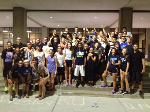 This photo was taken last September. Each year when new students come to KU, we try to host fun events and go out of our way to make them feel welcomed into our community!