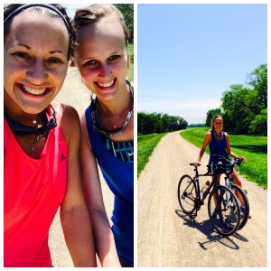 This is my good friend Taylor who is training with me for our first sprint triathlon. The race is this Sunday morning at Clinton Lake in Lawrence, Kan.